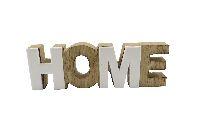 Schriftzug HOME NATUR-WEISS 62426 16x2x5cm  Holz mit Poly