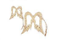 Engelflügel GOLD GL:13-17cm 2Größen Hänger Ø5cm+8,5cm Holz 7064227