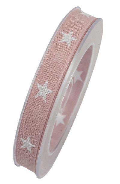 Band Sternenpracht ROSA 42 X830 Sternenband 15mm 20Meter formstabile Kante