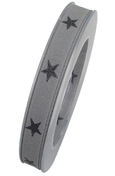 Band Sternenpracht GRAU 81 X830 Sternenband 15mm 20Meter formstabile Kante