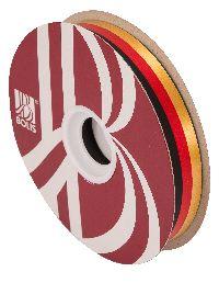Polyband / Geschenkband Nationalband schwarz-rot-gold 34mm 100Meter Ziehband