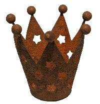 Krone rost mit Sternausschnitt rostig Krone Teelichthalter Øoben 7cm H7cm Øunten 3,5cm