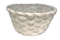 Bambuskorb Vintage weiss  64300125 rund Ø25xH10cm