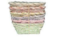 Bambuskorb Vintage pastell 6-farbig  64302920 rechteckig L20xB13xH10cm