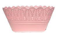 Metalljardiniere Flowerdesign PINK 54802328 28x15x13cm