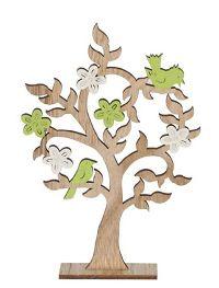 Dekobaum Frühlingsbote natur-weiss-grün 37032 19,5x4,7x29,5cm (LxBxH) Holz