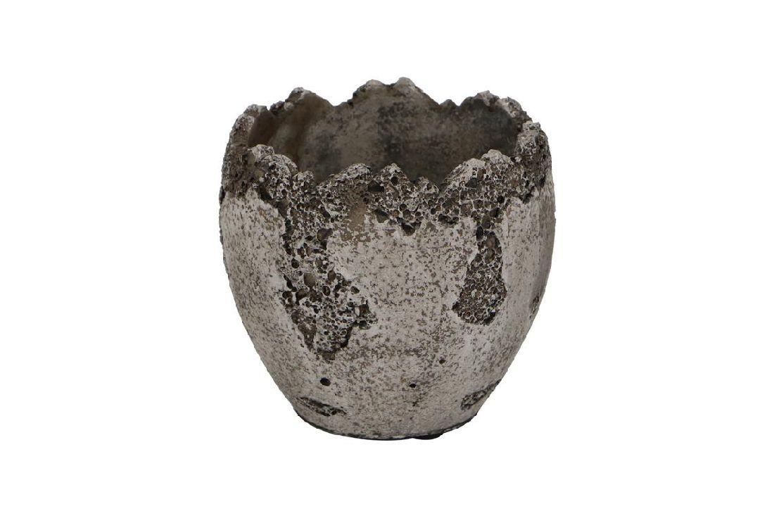 Zementschale ANTIK GRAU-WEISS 28808 Ei stehend 13,5x13,5x12,5cm