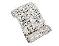 Schriftrolle Erinnerungen... 80486  ..sind kleine Sterne... 14x9,5cm   Poly