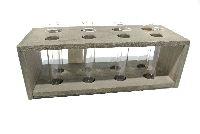 Reagenzglas im Holzrahmen GRAU-WASHED 26x10x9cm (LxBxH) 8 Gläser Ø19xH100mm 57008026