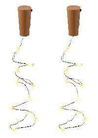 LED Korken / LED Flaschenlicht 2 Stück  1017282 10 LED batteriebetrieben