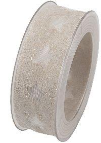 Sternenband Santa Isabel CREME formstabile Kante B:40mm L:15Meter X983 021