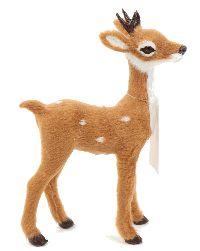 Rehkitz Bambi BRAUN-WEISS 610434 11,5x4x15,5cm mit Kunstfell