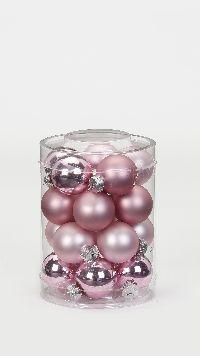 Glaskugel / Christbaumkugel 15302 Pink Blush 30mm 20 Stück