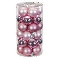 Glaskugel / Christbaumkugel 15302 Pink Blush 40mm 30Stück