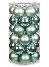 Glaskugel / Christbaumkugel 15247 Winter Jade - mintgrün 40mm 30Stück