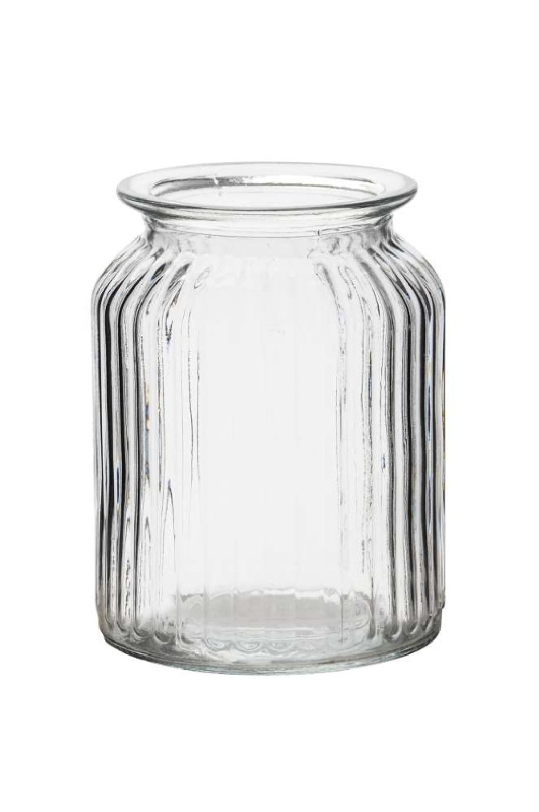 Rundrandglas Vintage gerippt KLAR 522360  1093 Ø11xH14,5cm