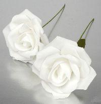 Rose Foam  Schaumrose Foamrose weiß 110186-11 Ø6cm