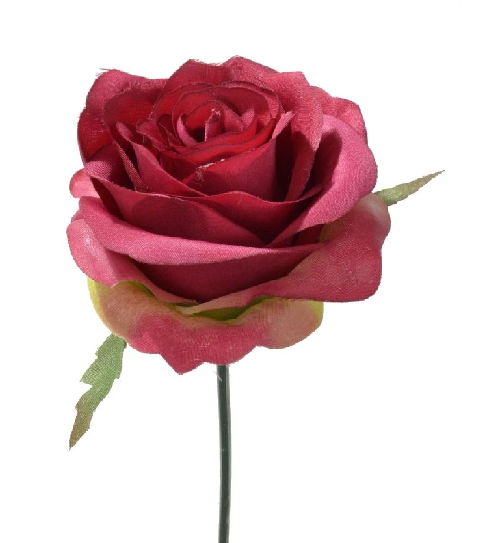 Rose Elena dunkelrot  113912-27 Ø10cm  Länge=19cm