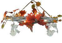 Dekozweig Herbstzauber HERBSTFARBEN mit LED-Beleucht. ca.50x35cm (BxH) CK