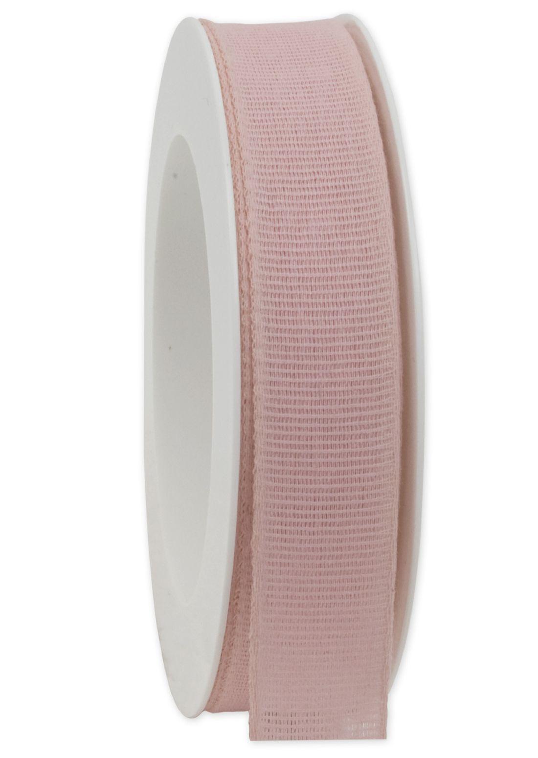 Basicband NATURE rosa 21 biologisch abbaubar B:25mm L:20m Baumwollband 267