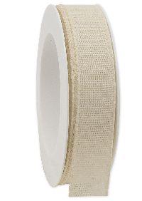 Basicband NATURE natur 02 biologisch abbaubar B:25mm L:20m Baumwollband 267