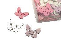 Streudeko Sweet Colour ROSA-WEISS-PINK 11993 Schmetterlinge 4cm Holz