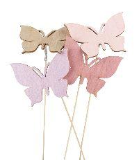 Stecker Harmony rosa-lila-natur-malve 20761228 Schmetterling 6cm GL:12cm