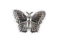 Schmetterling Metall SILBER 20421123 6cm Metall mit Loch zum Auffäd