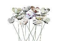 Schmetterling am Wipppick BUNT 11-fach 20421305 6cm GL:29cm Polyester