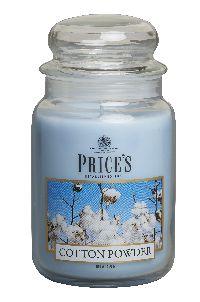 Duftkerze Price´s Candles COTTON POWDER im Glas Brenndauer: 110-150 h