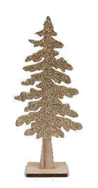 Tannenbaum zum Stellen GOLD-GLITTER 613505 L: 13cm B:4cm H:30cm