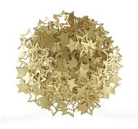 Sterne Streudeko GOLD 20425124  PVC Ø1,7-2,8cm 2-fach