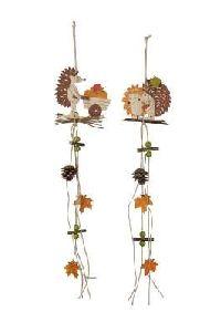 Igel Girlande Igel: 12cm + 10,5cm Länge: 60cm  Holz 570772