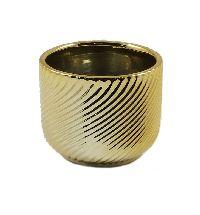 Kübel Luna gold glasiert 59941 8x6,5cm  Dolomit
