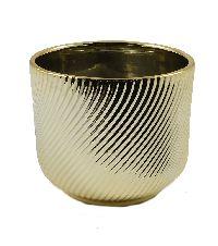 Kübel Luna gold glasiert 59943 13x11cm  Dolomit